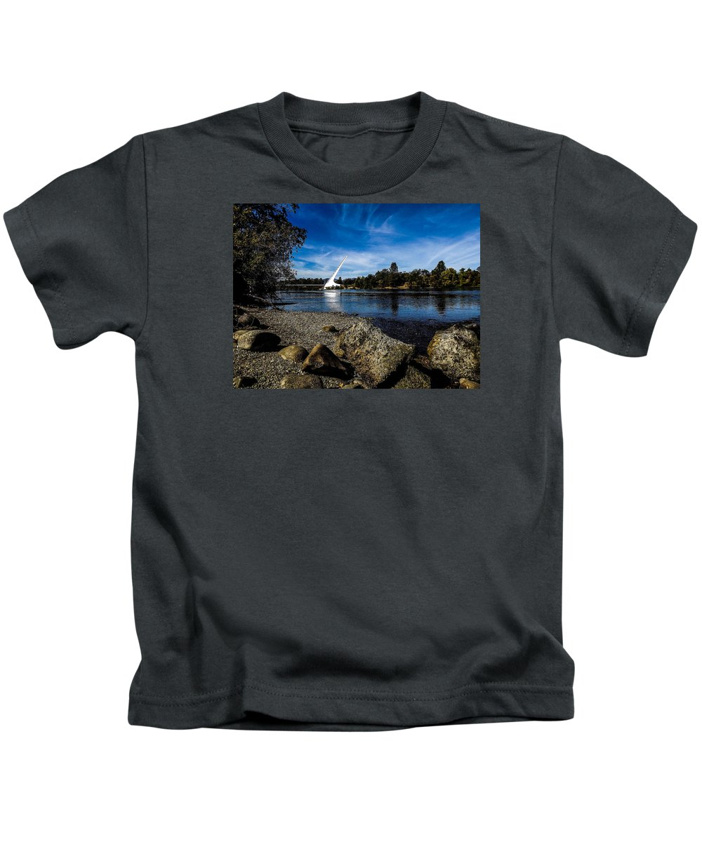Kids T-Shirt featuring the photograph Sundial Bridge by Reed Tim