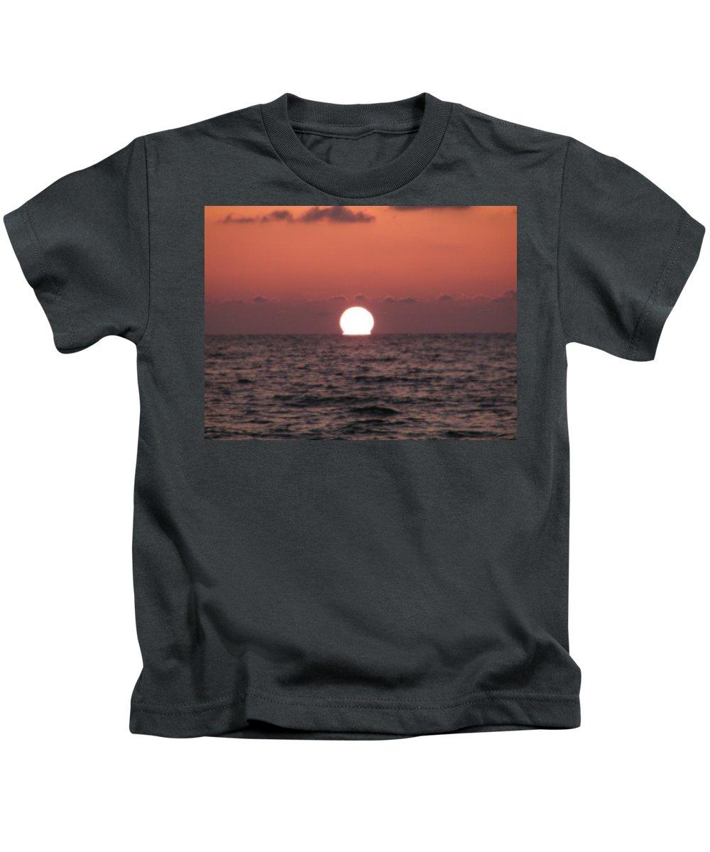 Florida Kids T-Shirt featuring the photograph Sundown At Dunedin by Bill Cannon