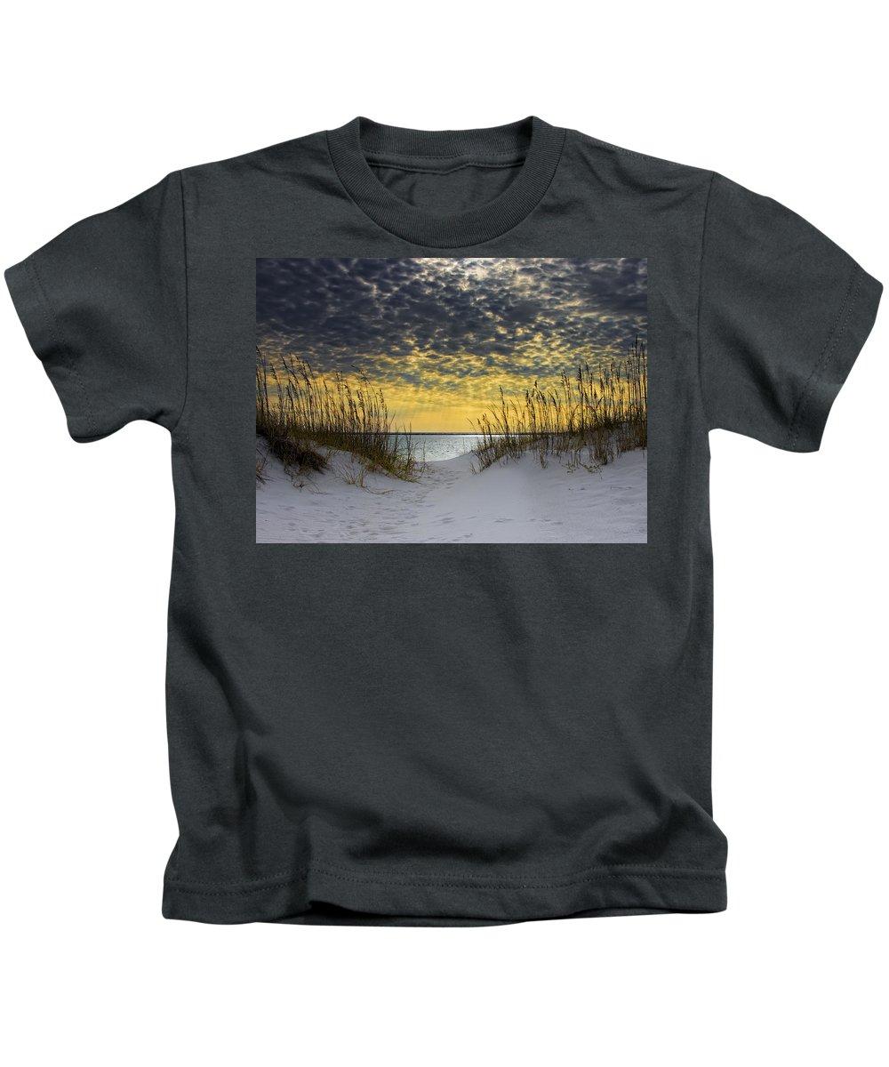 Coast Kids T-Shirt featuring the photograph Sunlit Passage by Janet Fikar