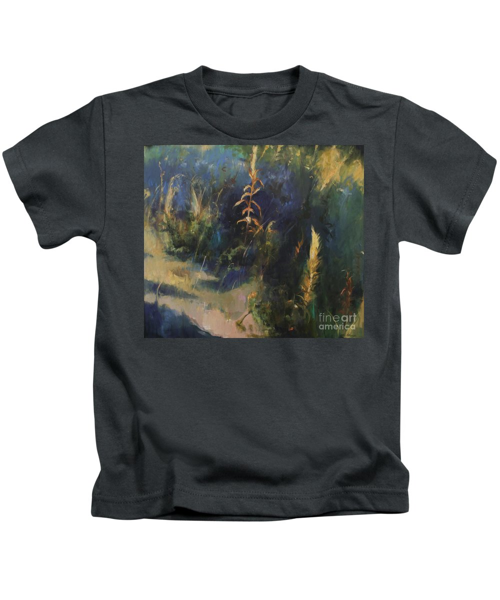 Lin Petershagen Kids T-Shirt featuring the painting Sunny Day by Lin Petershagen
