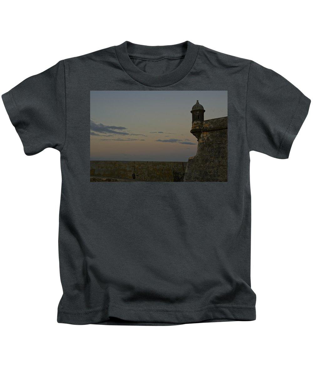 Puerto Rico Kids T-Shirt featuring the photograph Sunrise At El Morro by Brian Kamprath