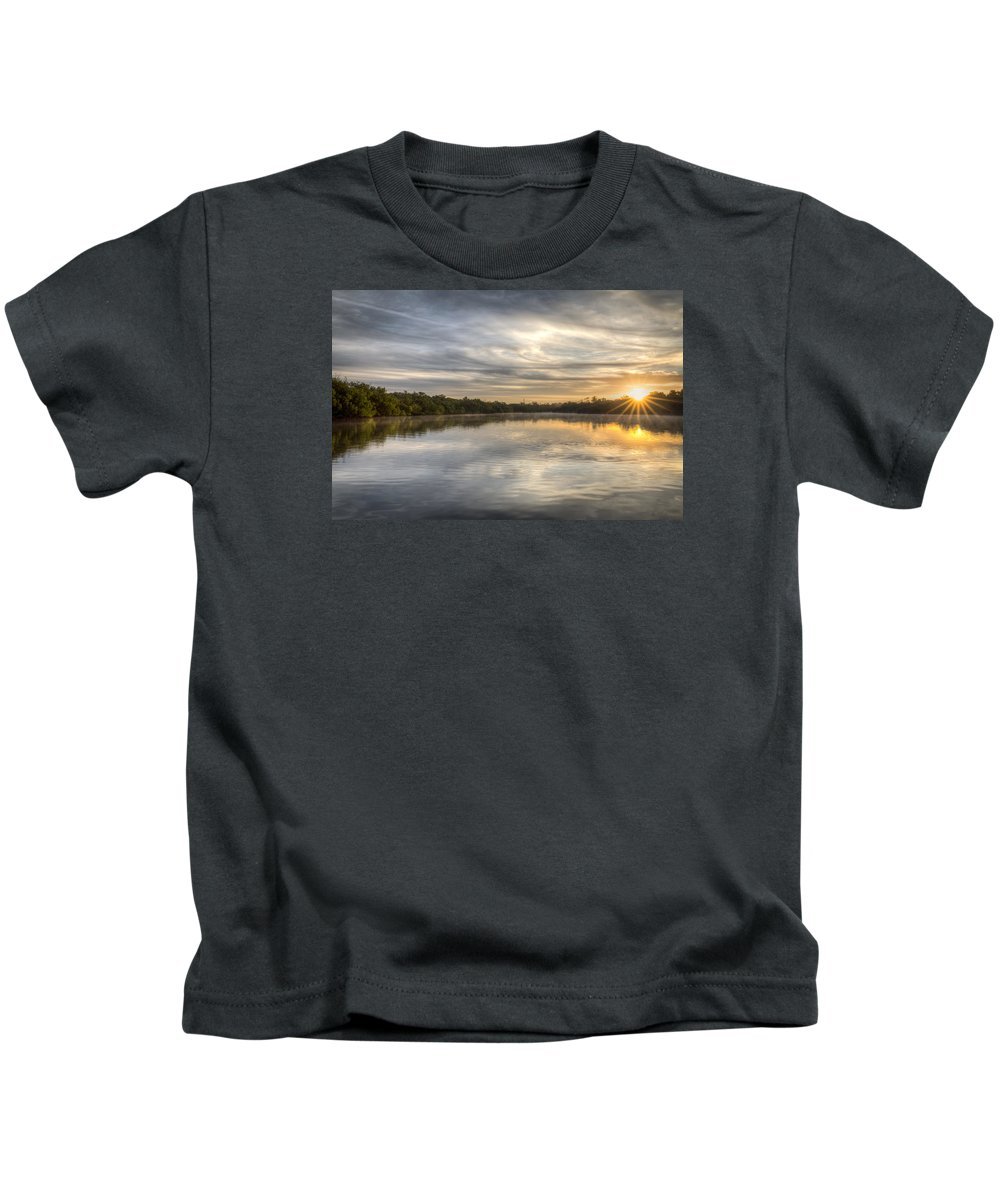 Tampa Kids T-Shirt featuring the photograph Sunrise On The Flats by Ronald Kotinsky