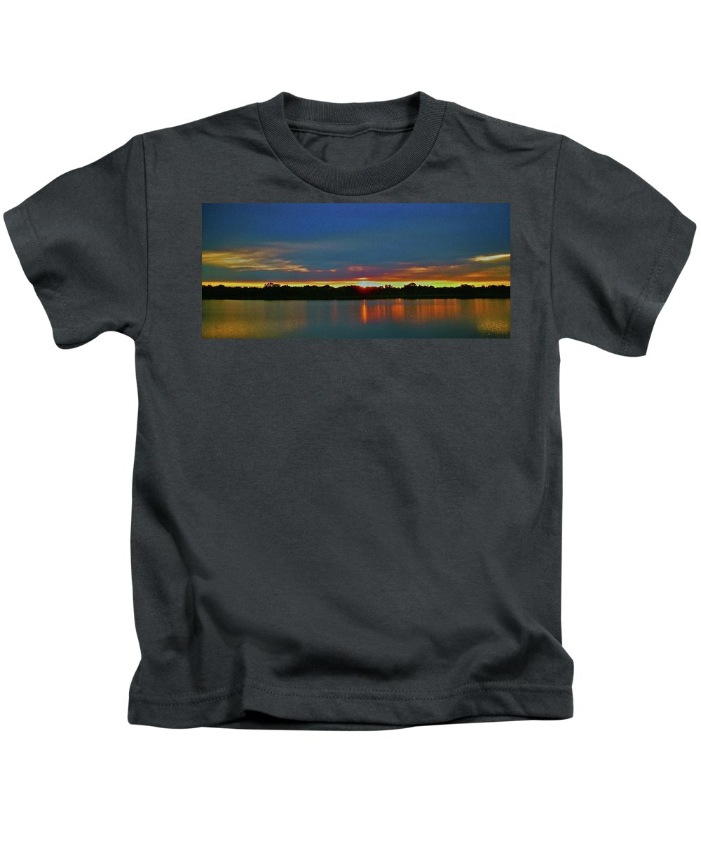 North America Kids T-Shirt featuring the photograph Sunrise Over Ile-bizard - Quebec by Juergen Weiss