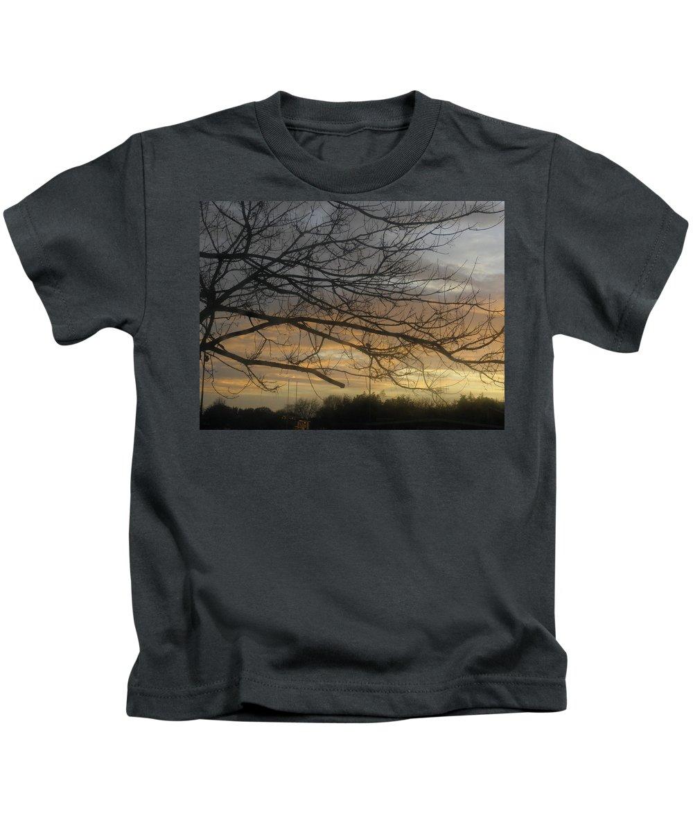 Sun Kids T-Shirt featuring the photograph Sunrise by Paul Pettingell
