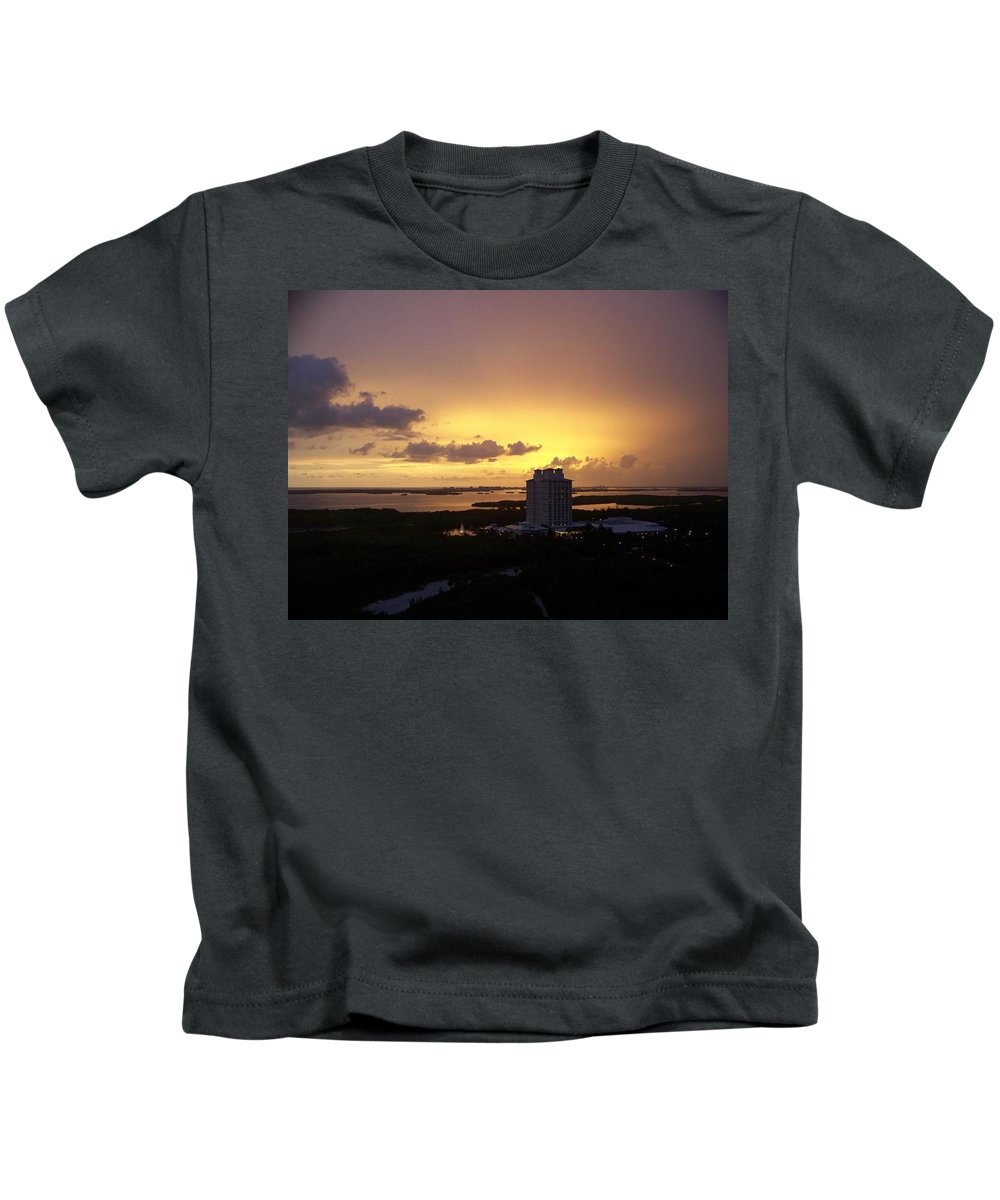 Sunset Kids T-Shirt featuring the photograph Sunset 0003 by Laurie Paci