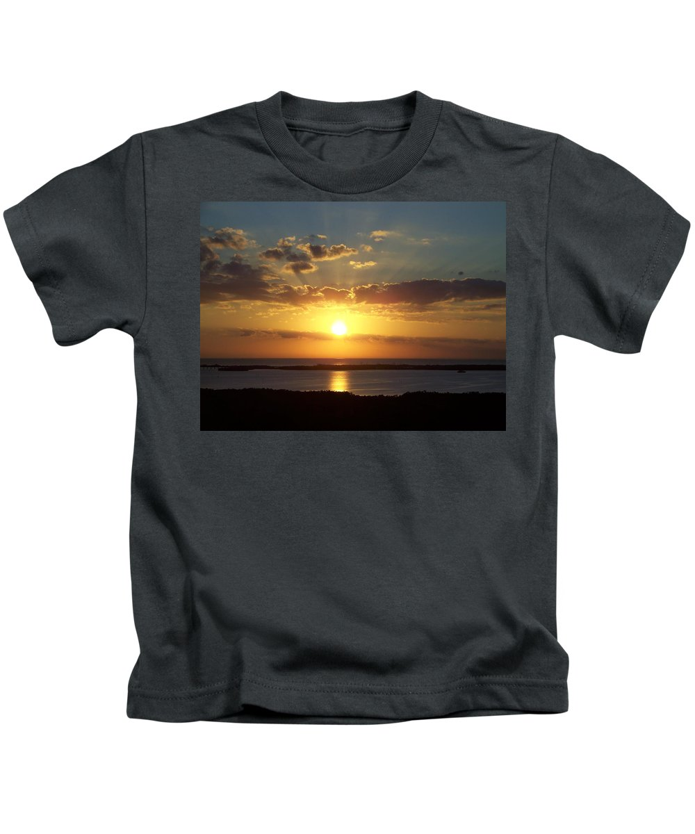 Sunset Kids T-Shirt featuring the photograph Sunset 0012 by Laurie Paci