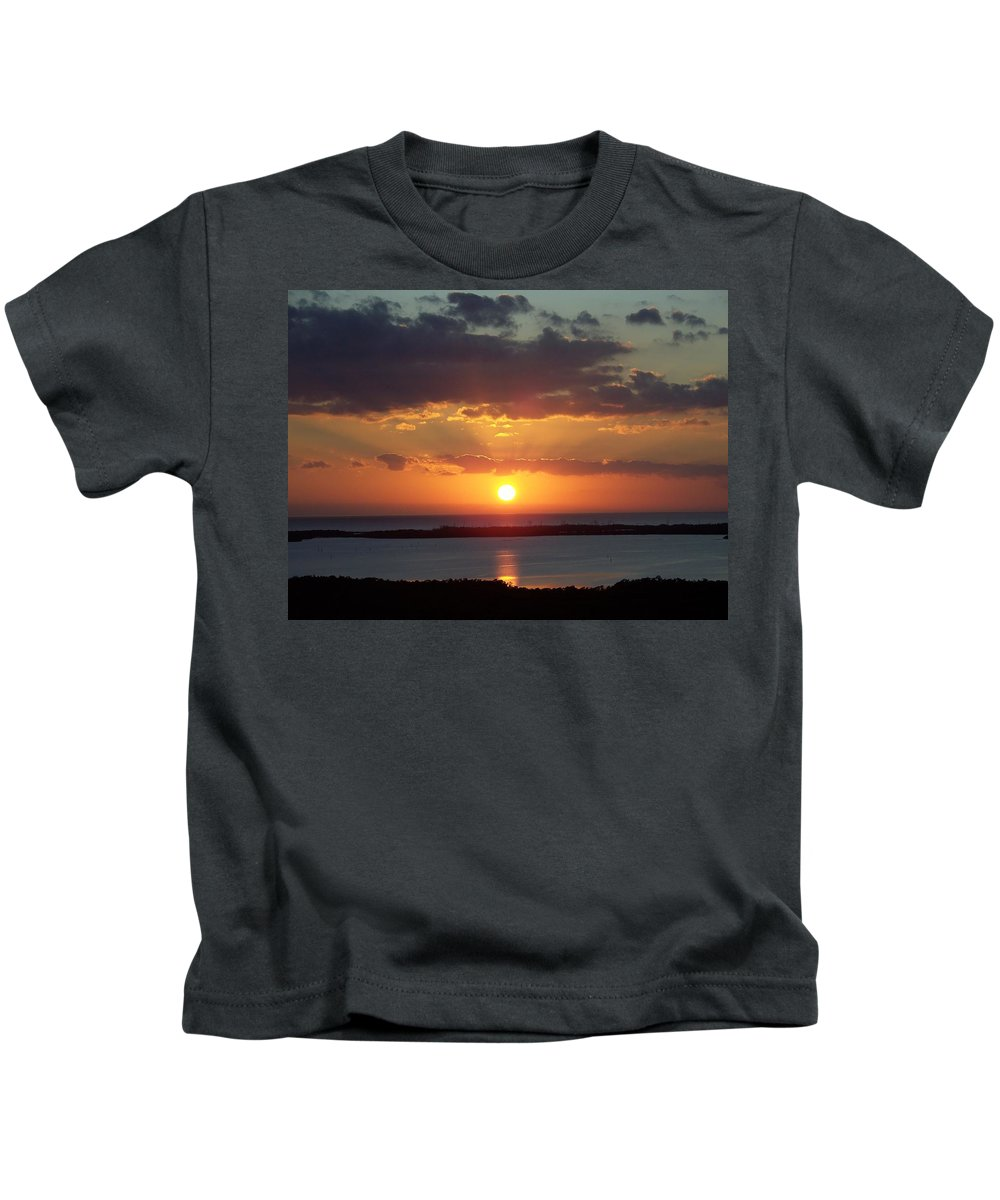 Sunset Kids T-Shirt featuring the photograph Sunset 0013 by Laurie Paci
