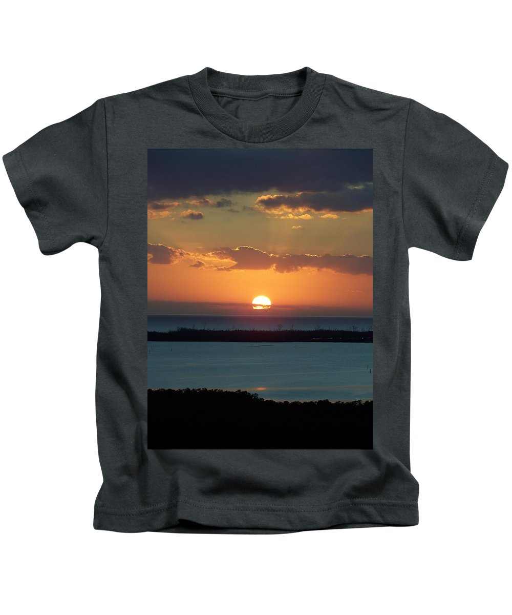 Sunset Kids T-Shirt featuring the photograph Sunset 0014 by Laurie Paci