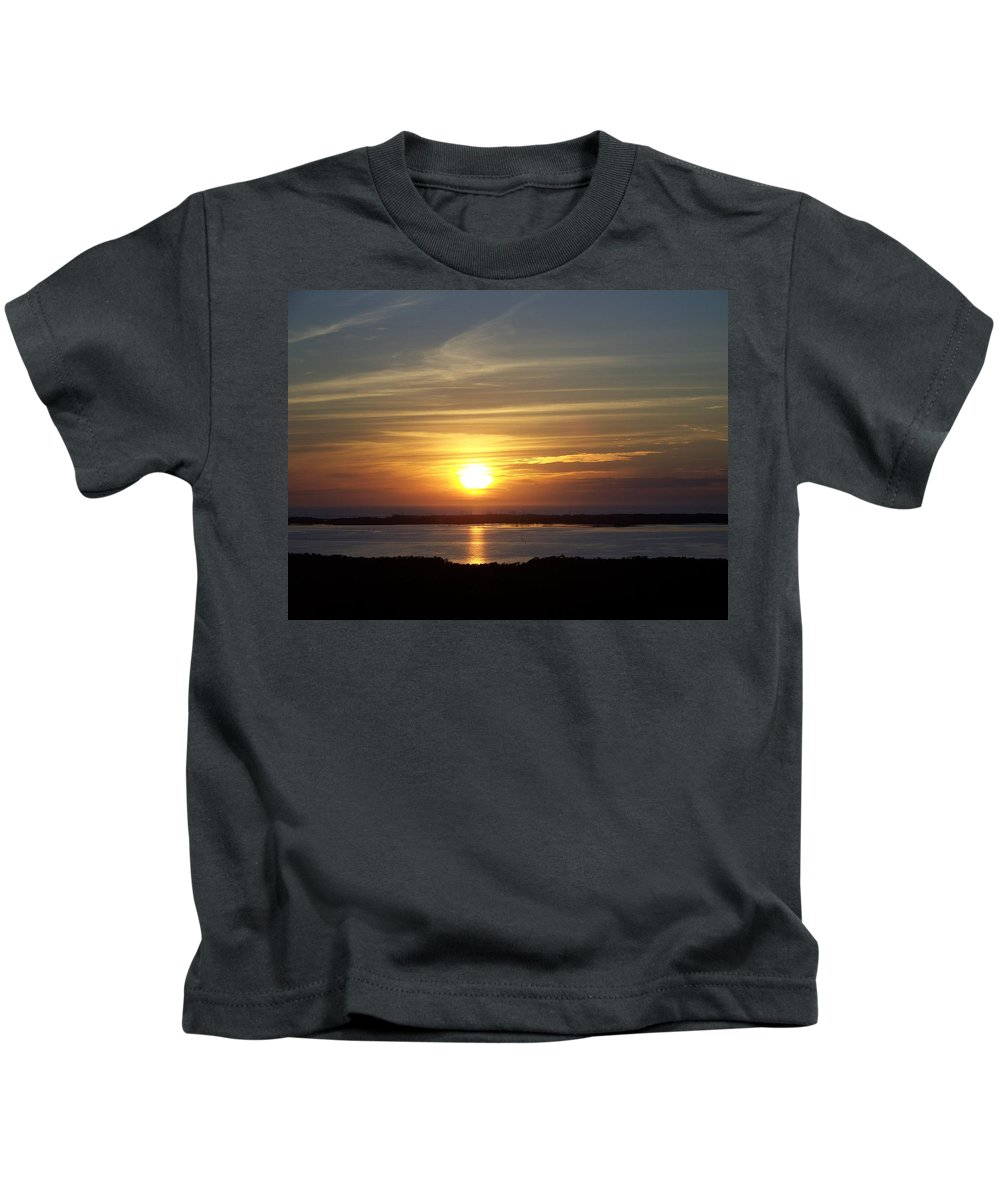 Sunset Kids T-Shirt featuring the photograph Sunset 0035 by Laurie Paci