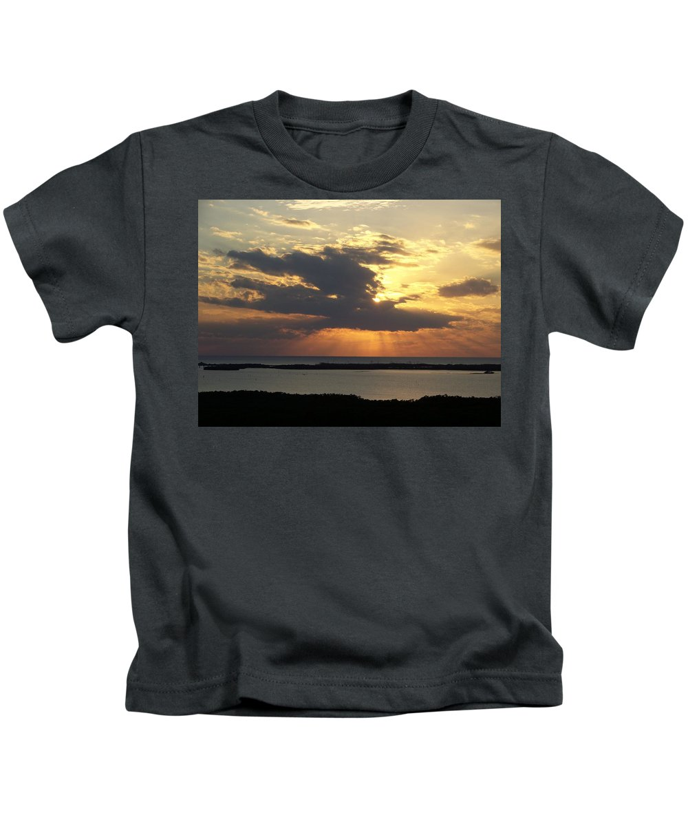 Sunset Kids T-Shirt featuring the photograph Sunset 0036 by Laurie Paci
