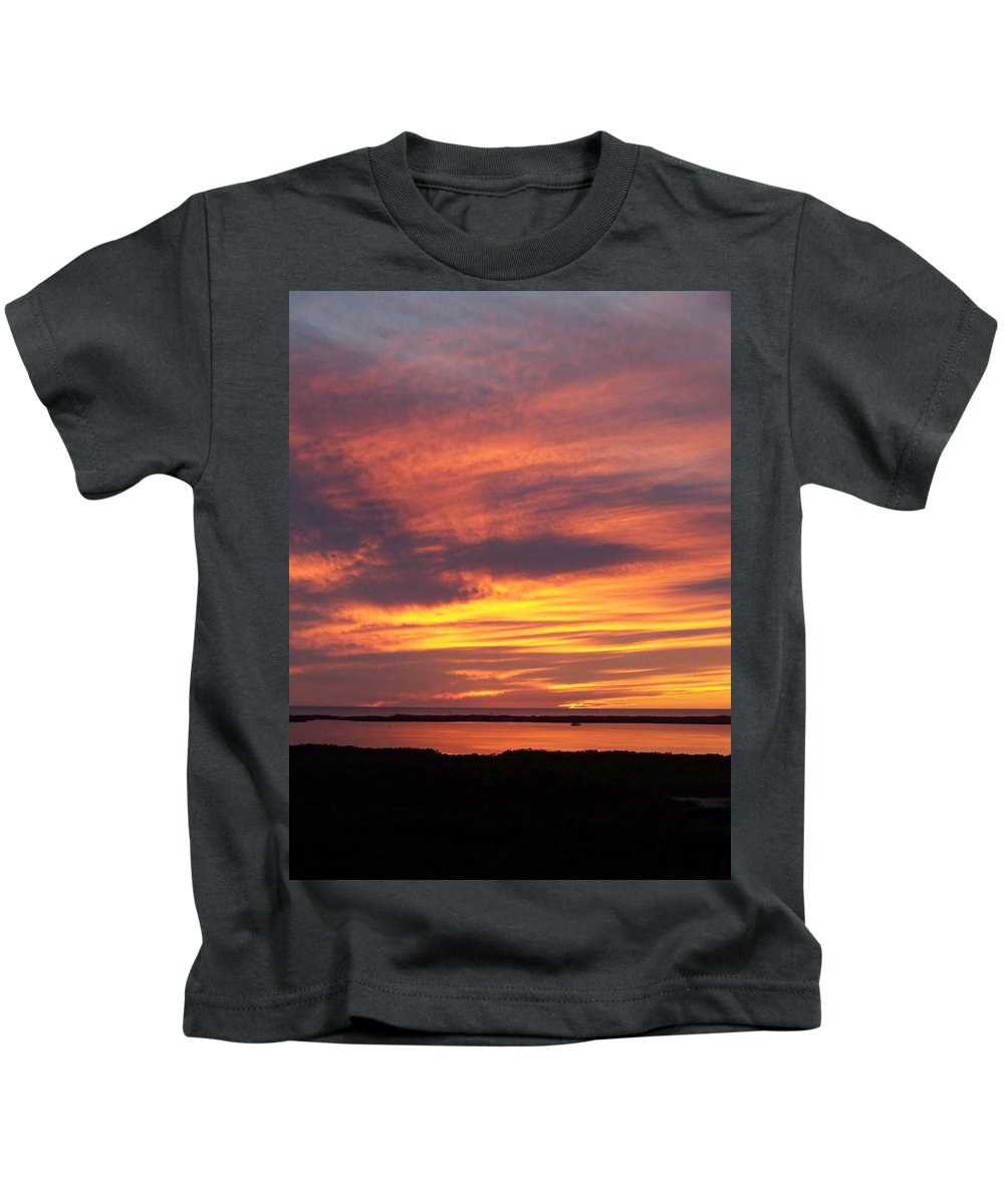 Sunset Kids T-Shirt featuring the photograph Sunset 0037 by Laurie Paci