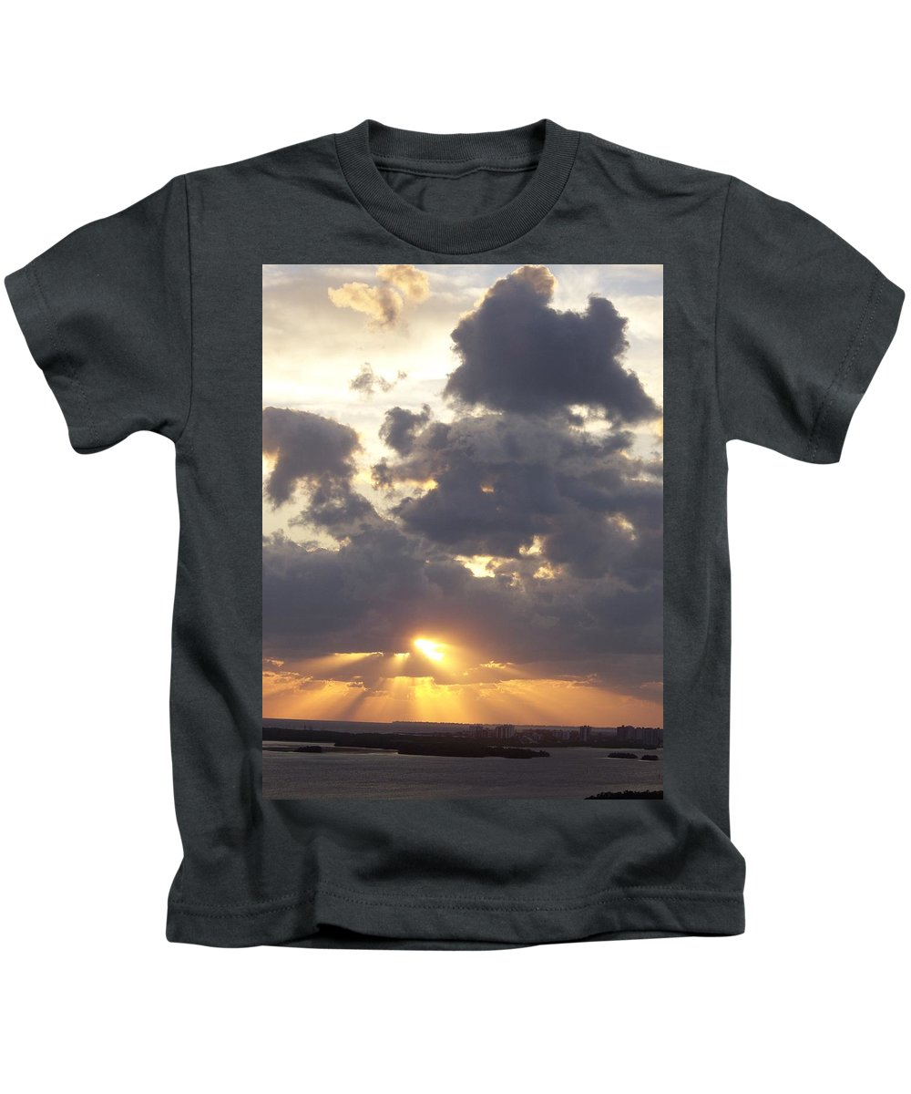 Sunset Kids T-Shirt featuring the photograph Sunset 0045 by Laurie Paci