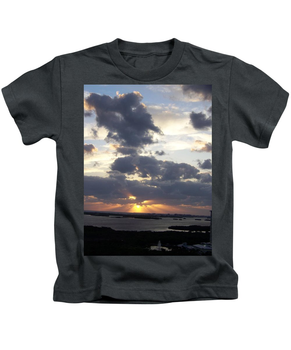 Sunset Kids T-Shirt featuring the photograph Sunset 0046 by Laurie Paci