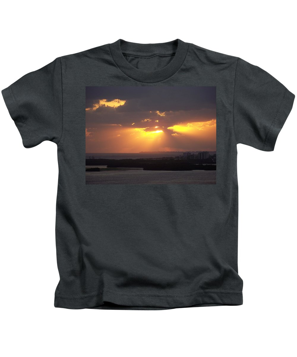 Sunset Kids T-Shirt featuring the photograph Sunset 0047 by Laurie Paci