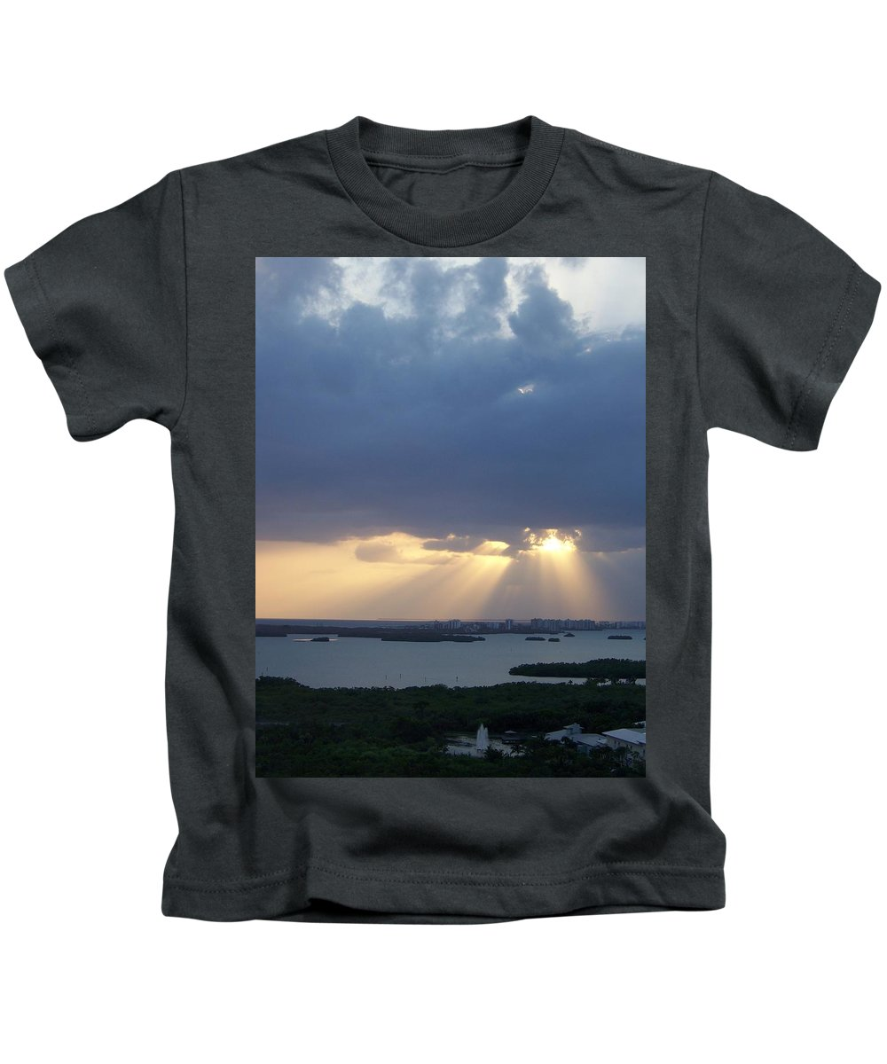 Sunset Kids T-Shirt featuring the photograph Sunset 0048 by Laurie Paci