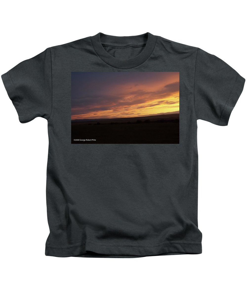 Sunset Kids T-Shirt featuring the photograph Sunset - 50 by George Phile