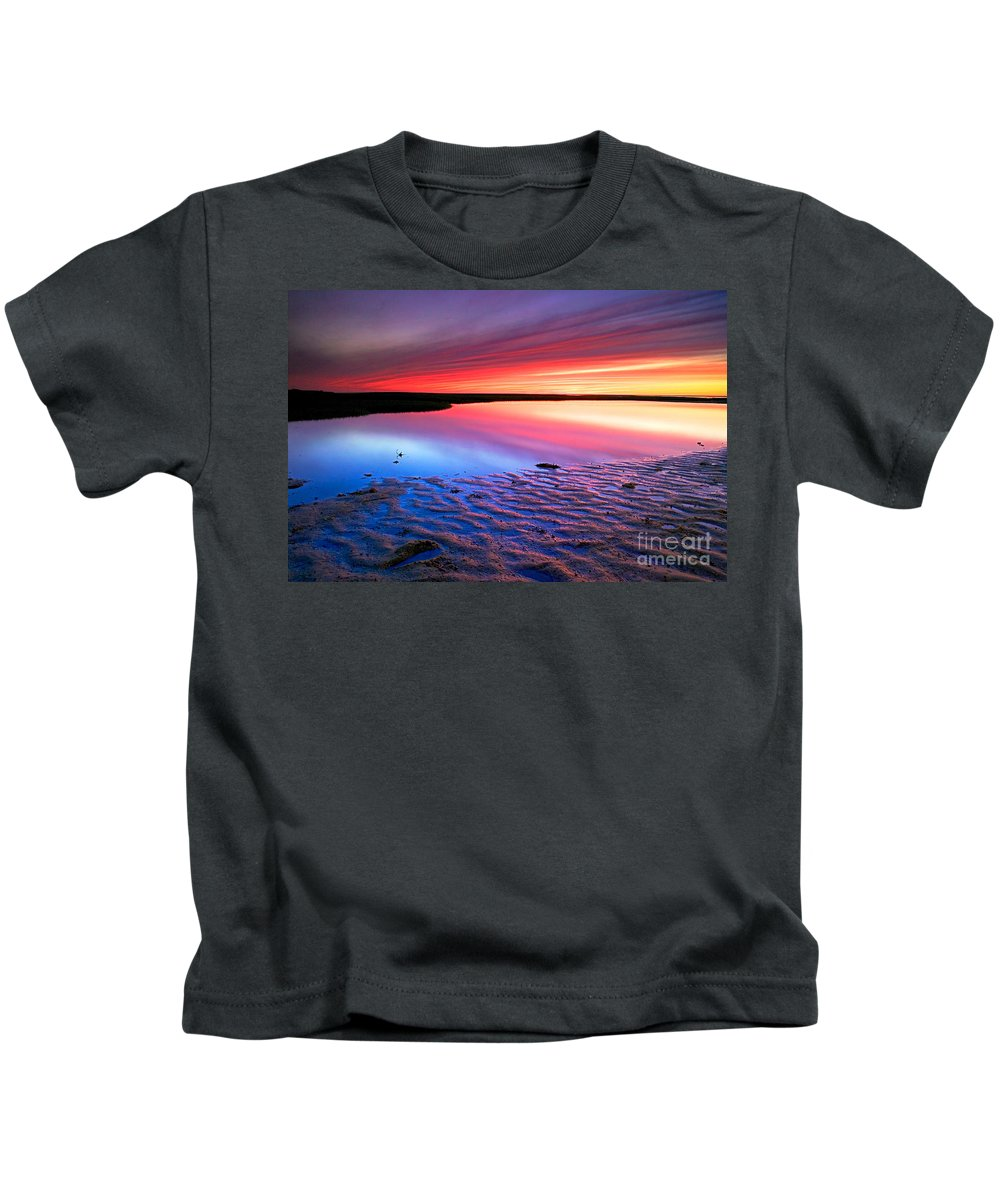 Sunset Kids T-Shirt featuring the photograph Sunset At Paines Creek Cape Cod by Matt Suess