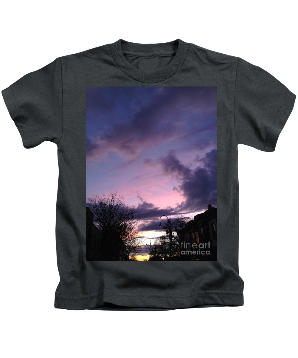Sunset Kids T-Shirt featuring the photograph Sunset In Winter Skies by Clay Cofer