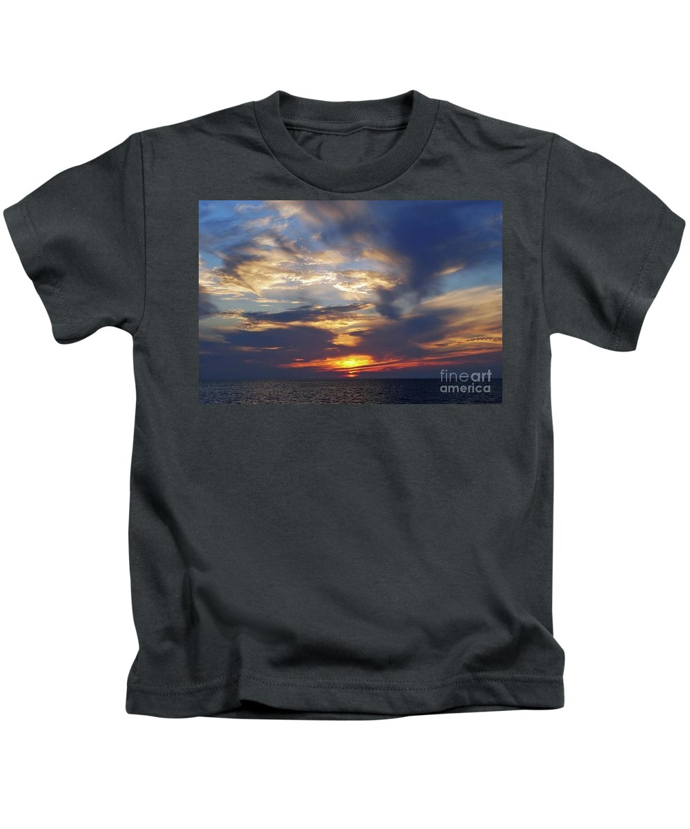 Sunset Kids T-Shirt featuring the photograph Sunset by Jost Houk