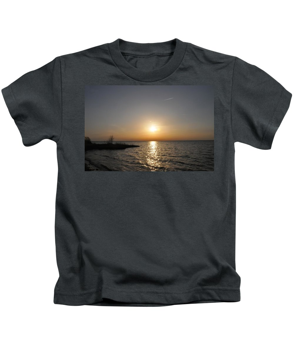 Bay Kids T-Shirt featuring the photograph Sunset On The Bay by Bill Cannon