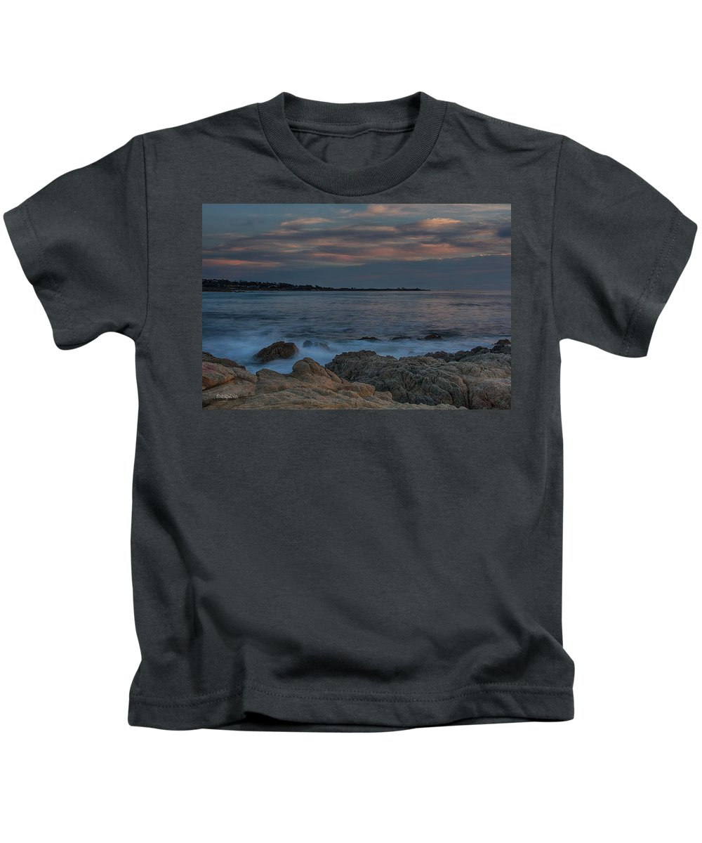 17 Mile Drive Kids T-Shirt featuring the photograph Sunset Over Point Joe by Bill Roberts