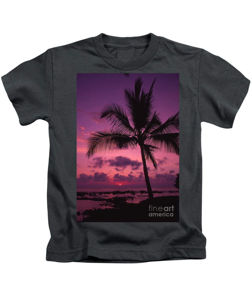 Bright Kids T-Shirt featuring the photograph Sunset Palms by Ron Dahlquist - Printscapes