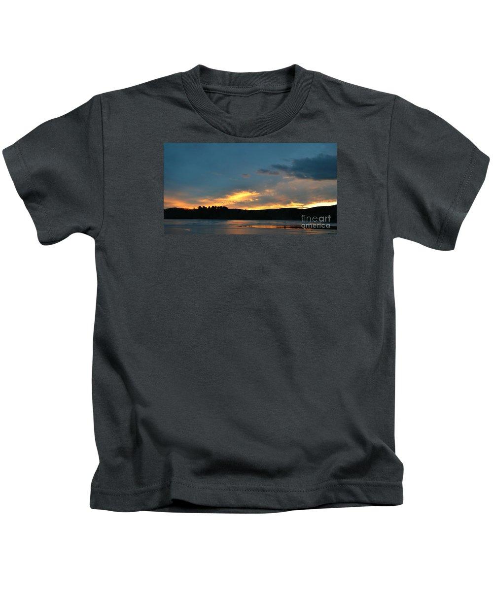 Sunset Kids T-Shirt featuring the photograph Sunset Reflections by Julie Street
