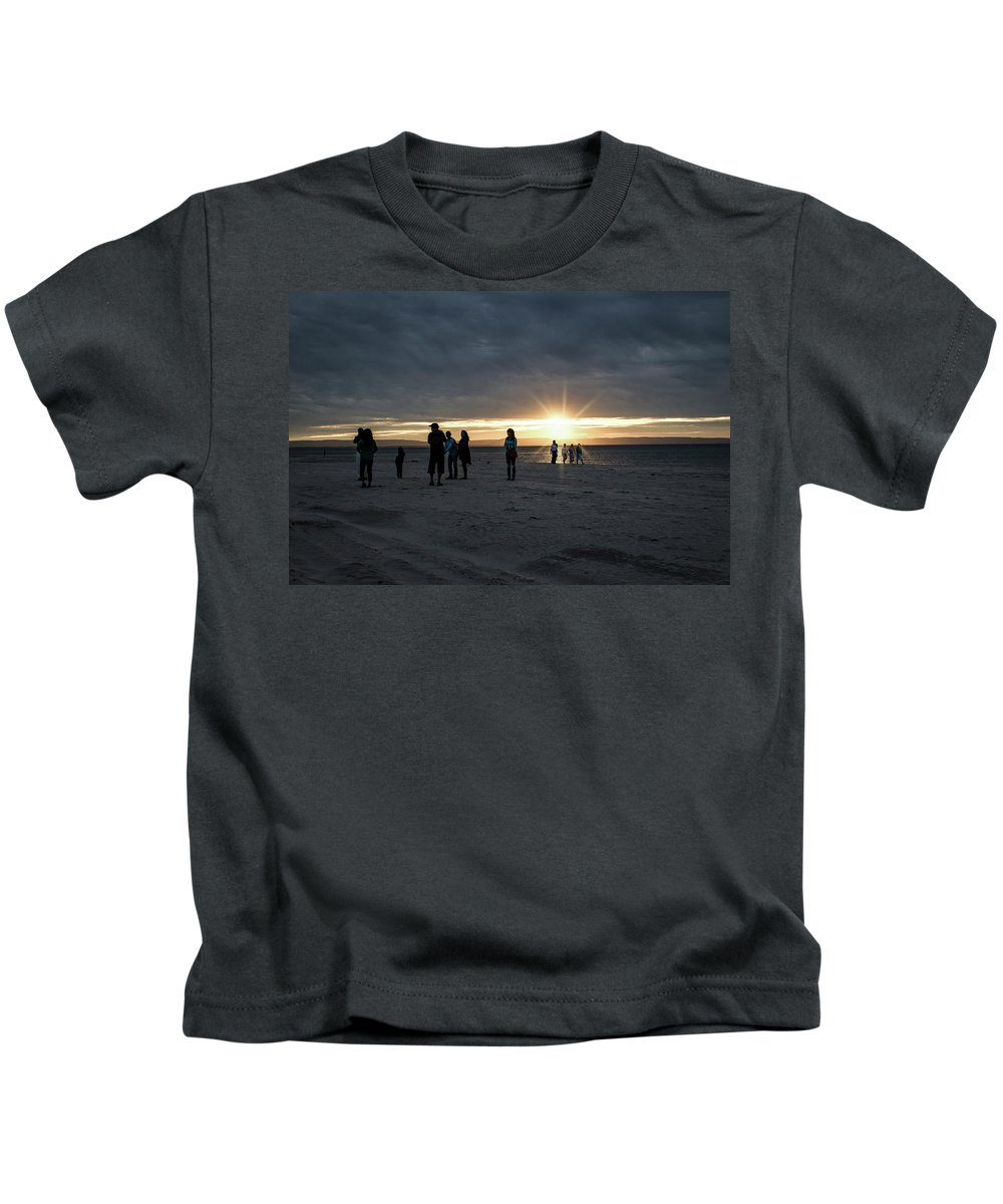 Sunset Kids T-Shirt featuring the photograph Sunset Silhouette by Anne D