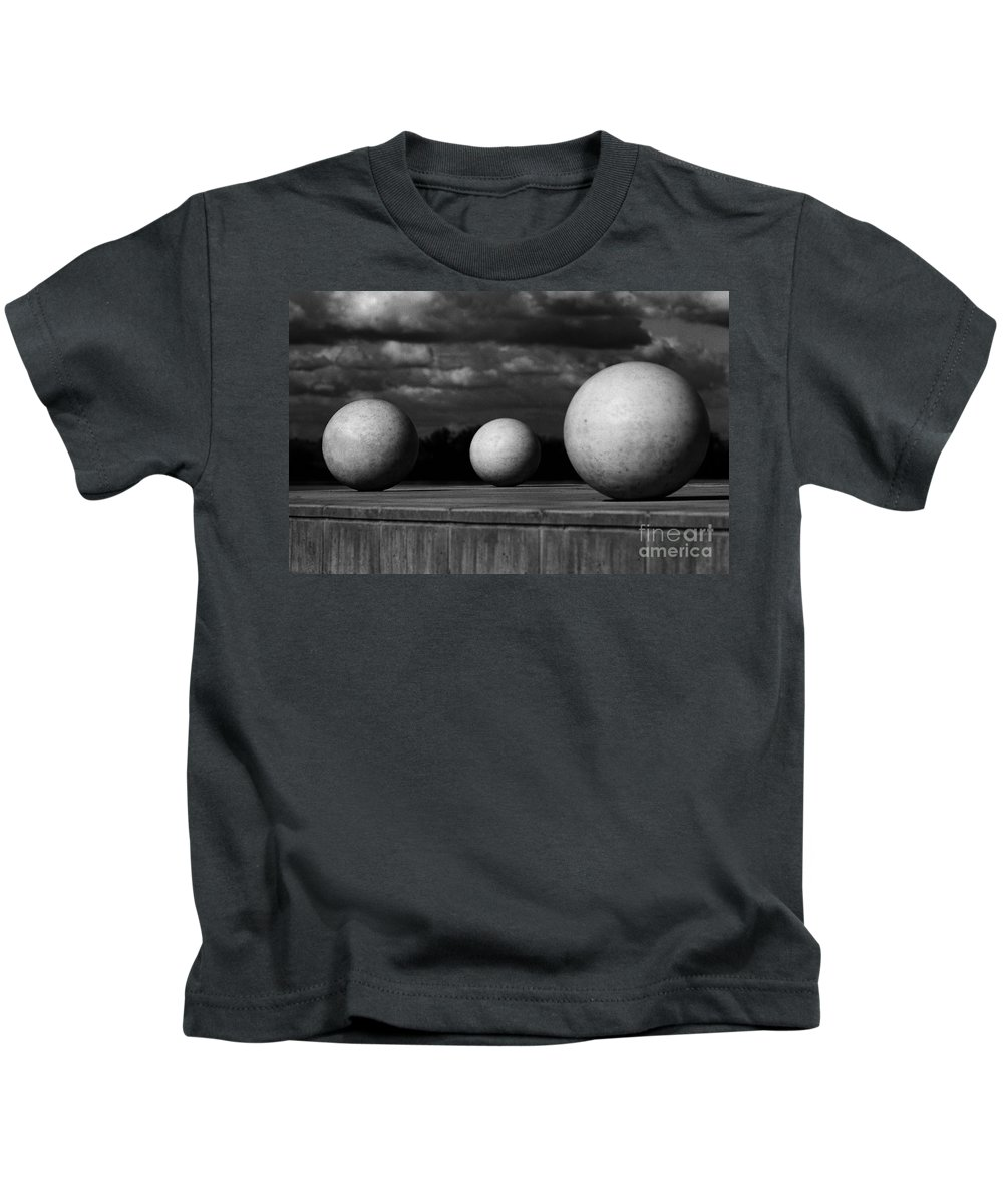 Black And White Kids T-Shirt featuring the photograph Surreal Globes by Peter Piatt