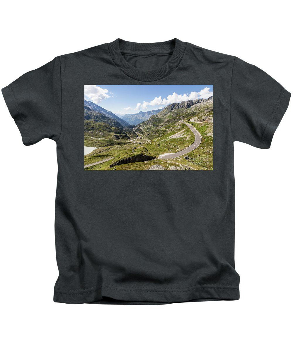 Europe Kids T-Shirt featuring the photograph Susten Pass by Didier Marti