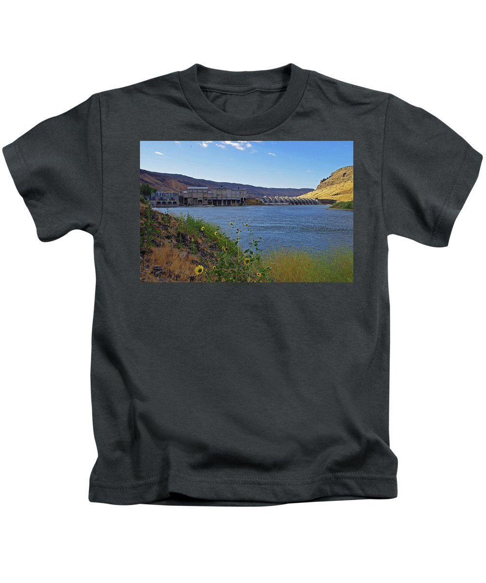 Swan Falls Kids T-Shirt featuring the photograph Swan Falls by Mike and Sharon Mathews