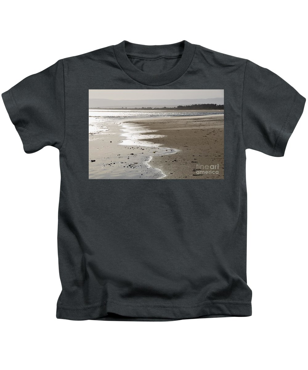 Coals Bay Kids T-Shirt featuring the photograph Sweeping Infinity by Csilla Florida