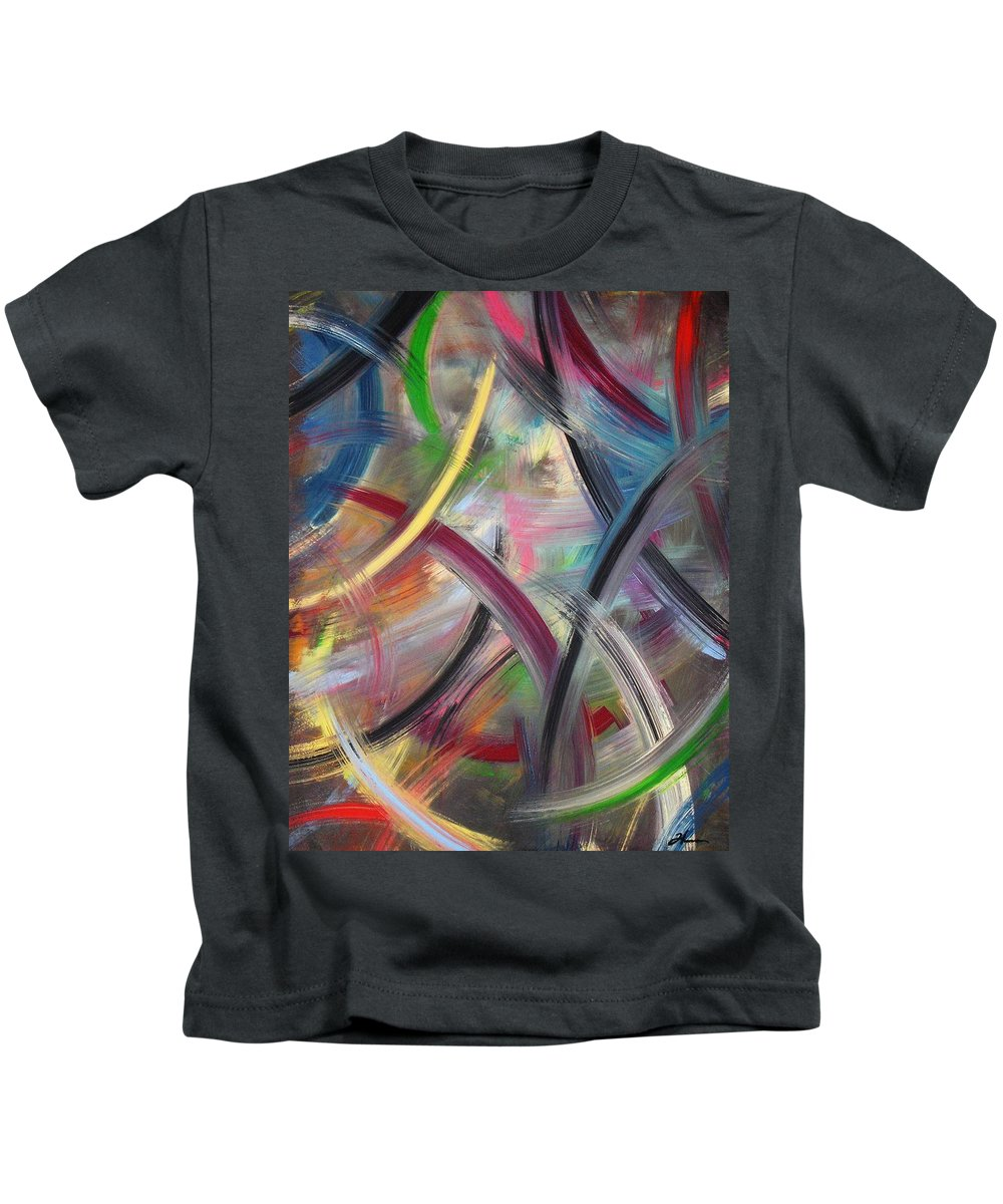 Acrylic Kids T-Shirt featuring the painting Swish by Todd Hoover