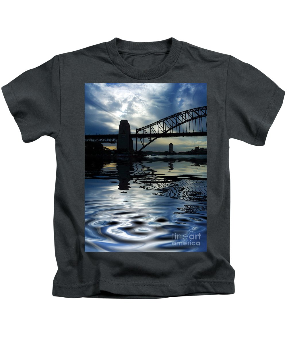Sydney Harbour Australia Bridge Reflection Kids T-Shirt featuring the photograph Sydney Harbour Bridge Reflection by Sheila Smart Fine Art Photography