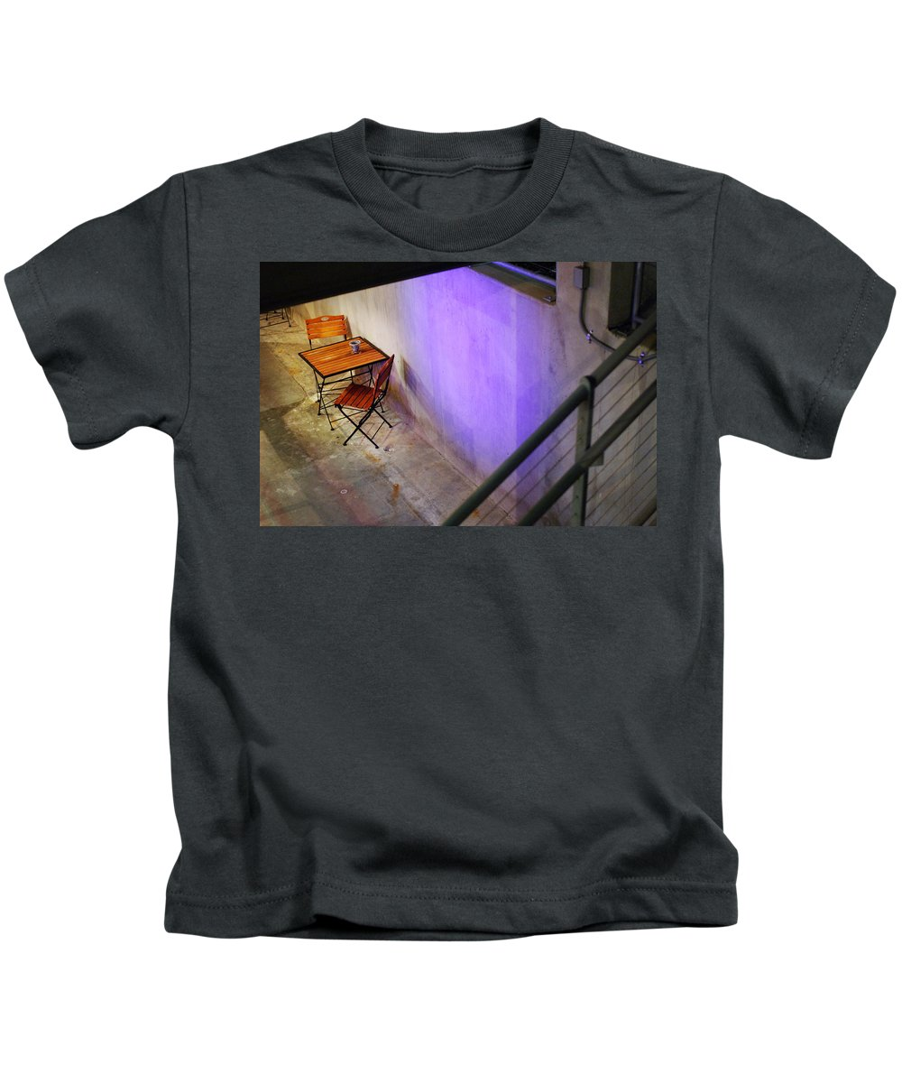 Cafe Kids T-Shirt featuring the photograph Table For Two by Jill Reger