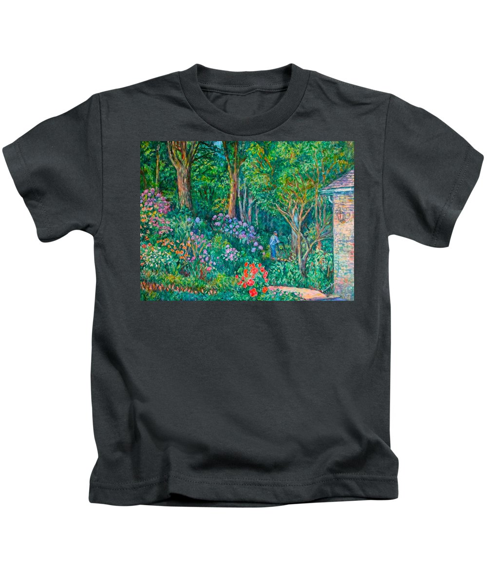Suburban Paintings Kids T-Shirt featuring the painting Taking A Break by Kendall Kessler