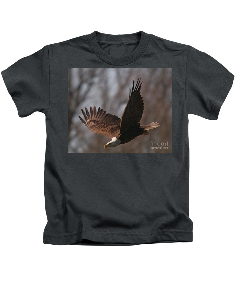 Related Tags: Eagle Artwork Kids T-Shirt featuring the photograph Taking Aim On Lunch by Robert Pearson