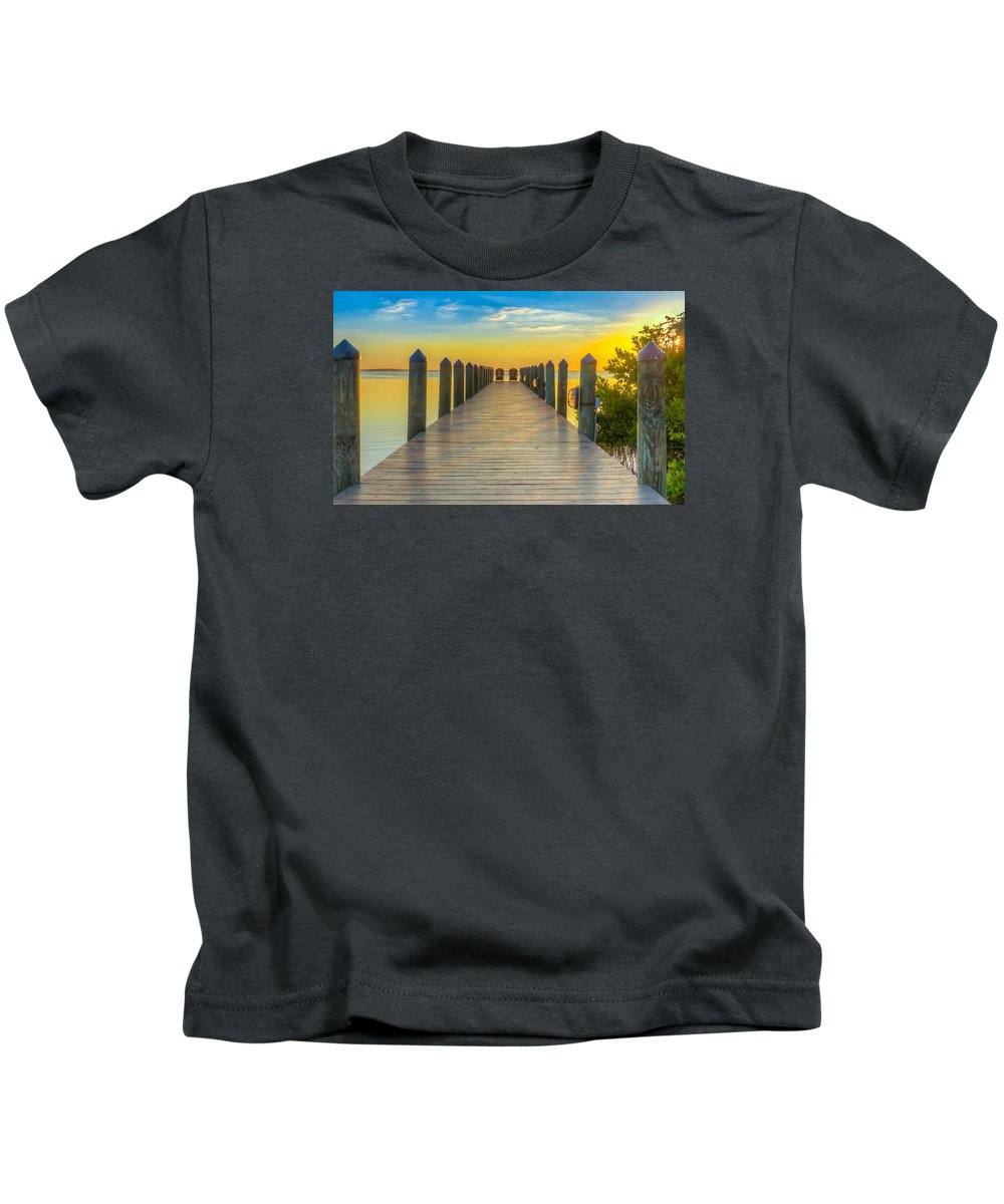 Tampa Kids T-Shirt featuring the photograph Tampa Bay Sunset by Lance Raab