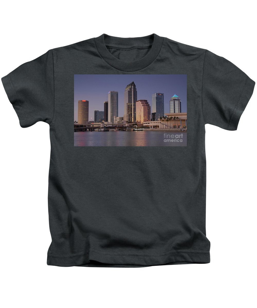 Tampa Florida Kids T-Shirt featuring the photograph Tampa Florida by David Lee Thompson