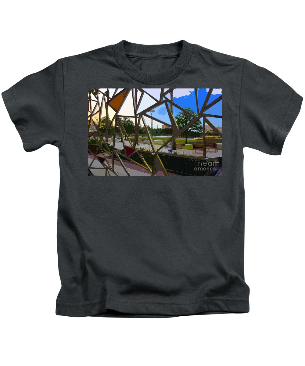 Art Kids T-Shirt featuring the painting Tampa Through Art by David Lee Thompson