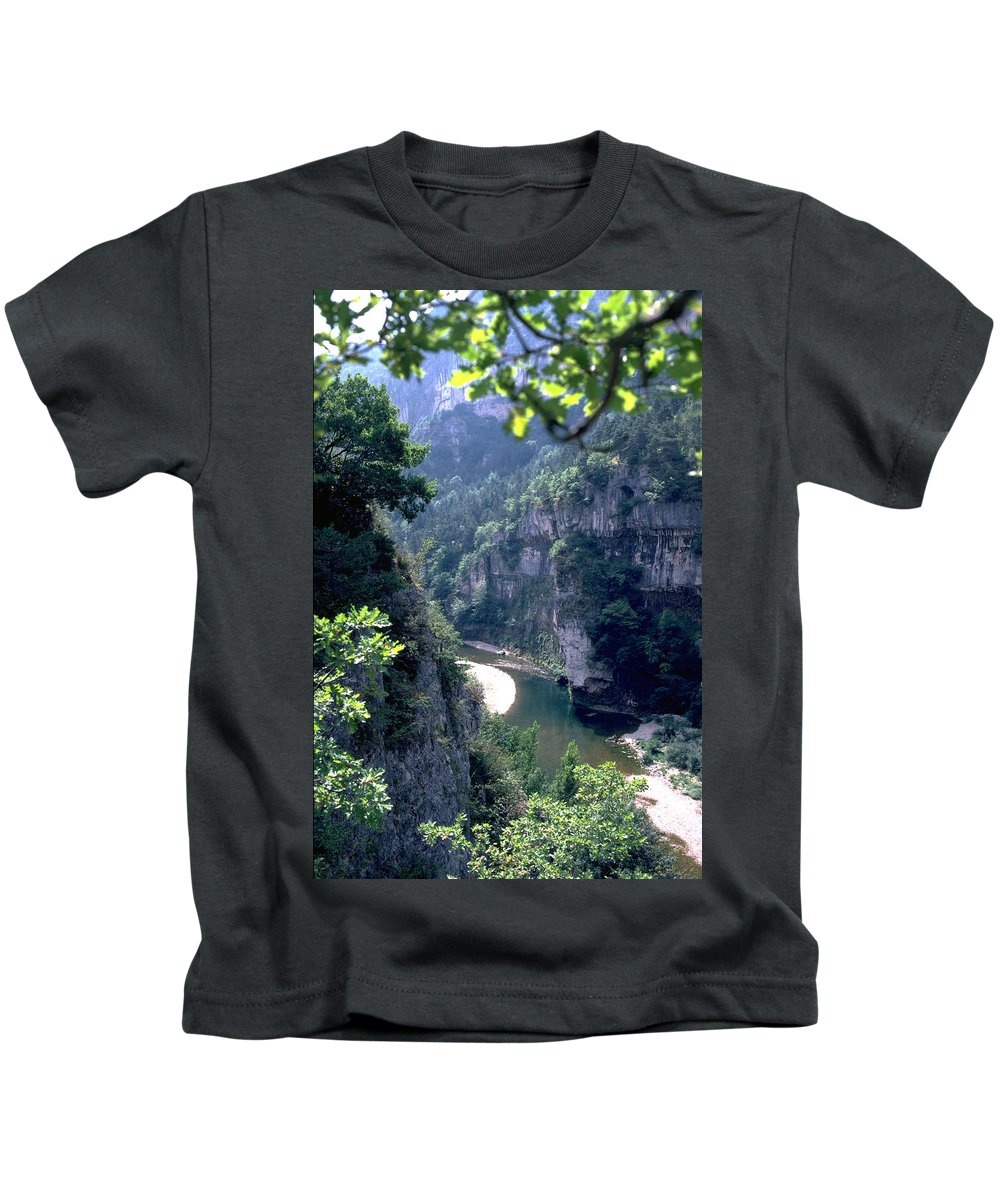 France Kids T-Shirt featuring the photograph Tarn by Flavia Westerwelle