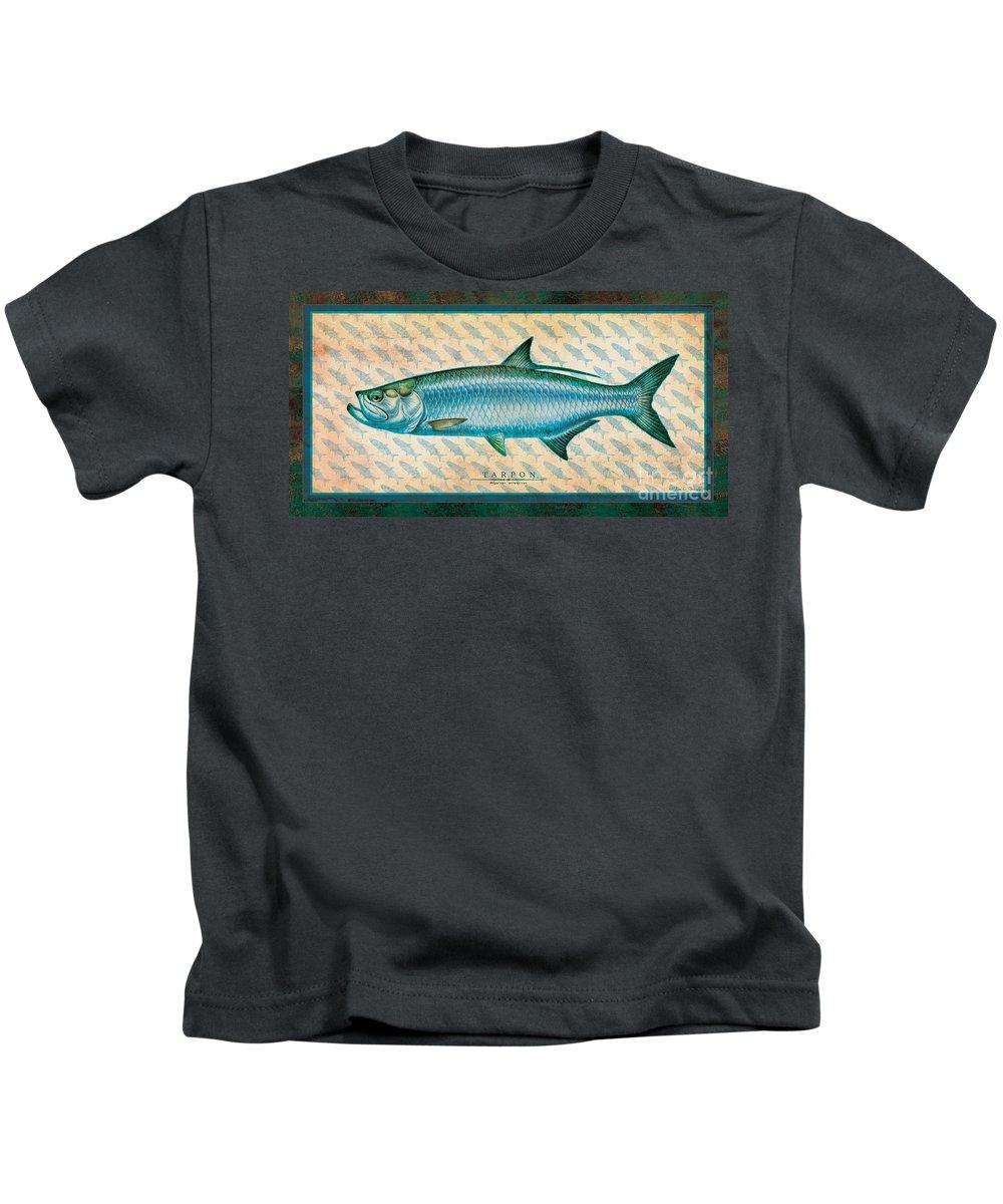 Jon Q Wright Kids T-Shirt featuring the painting Tarpon by JQ Licensing