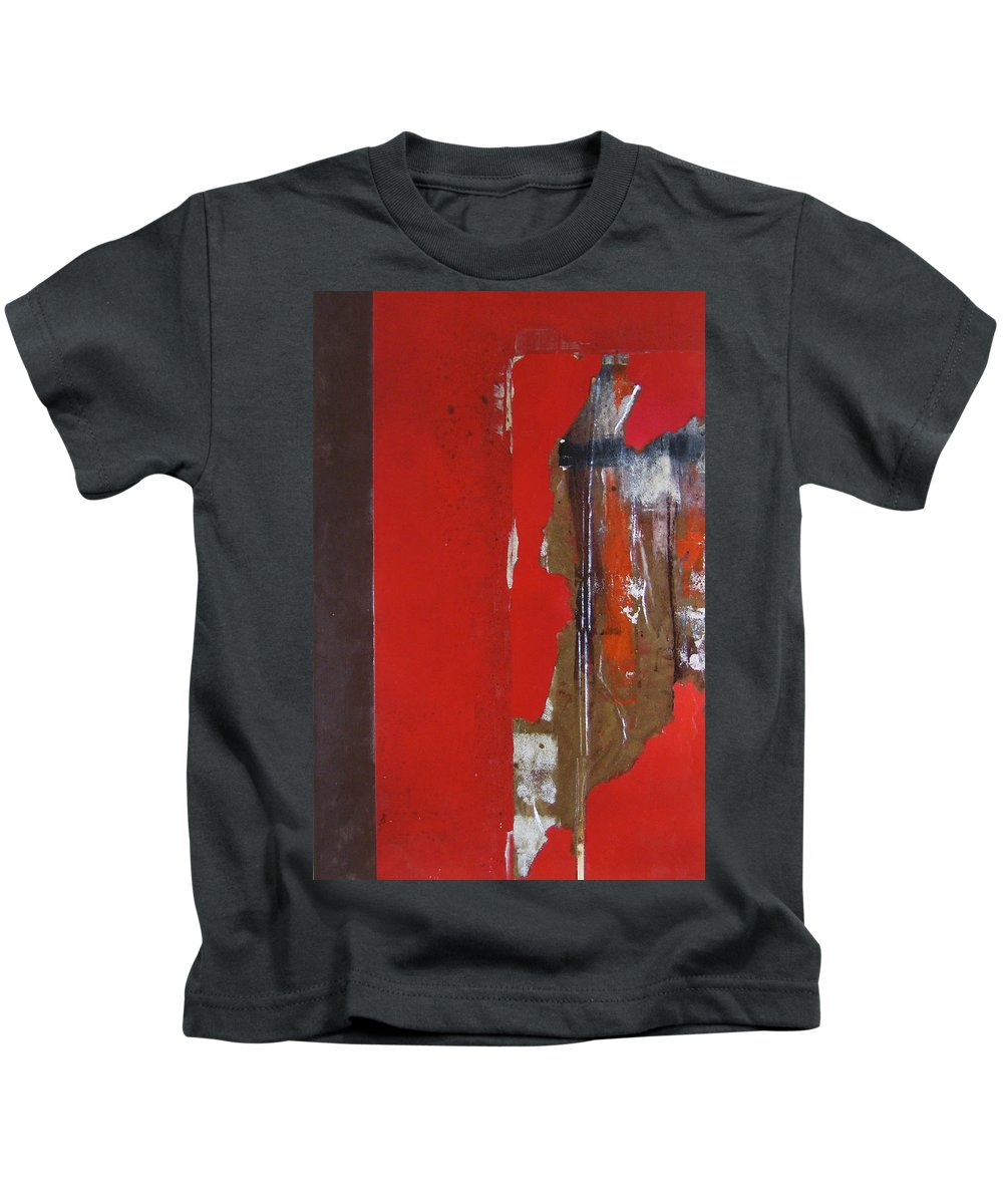 Canvas Kids T-Shirt featuring the painting Tatter Bag by Leah Hicks
