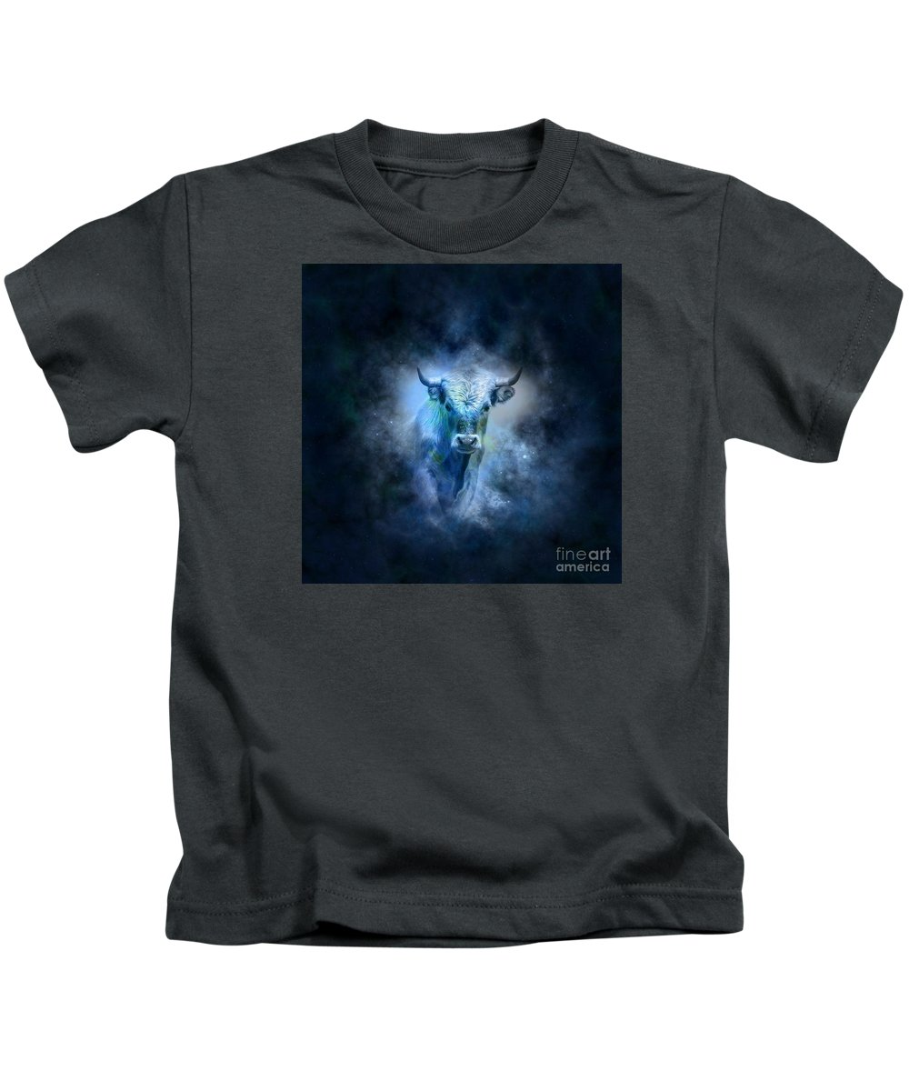 Witchcraft Kids T-Shirt featuring the digital art Taurus by Frederick Holiday