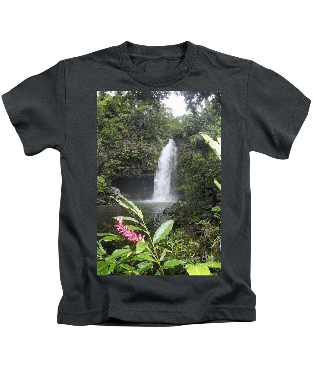 Beautiful Kids T-Shirt featuring the photograph Taveuni, Tavoro Waterfall by Himani - Printscapes