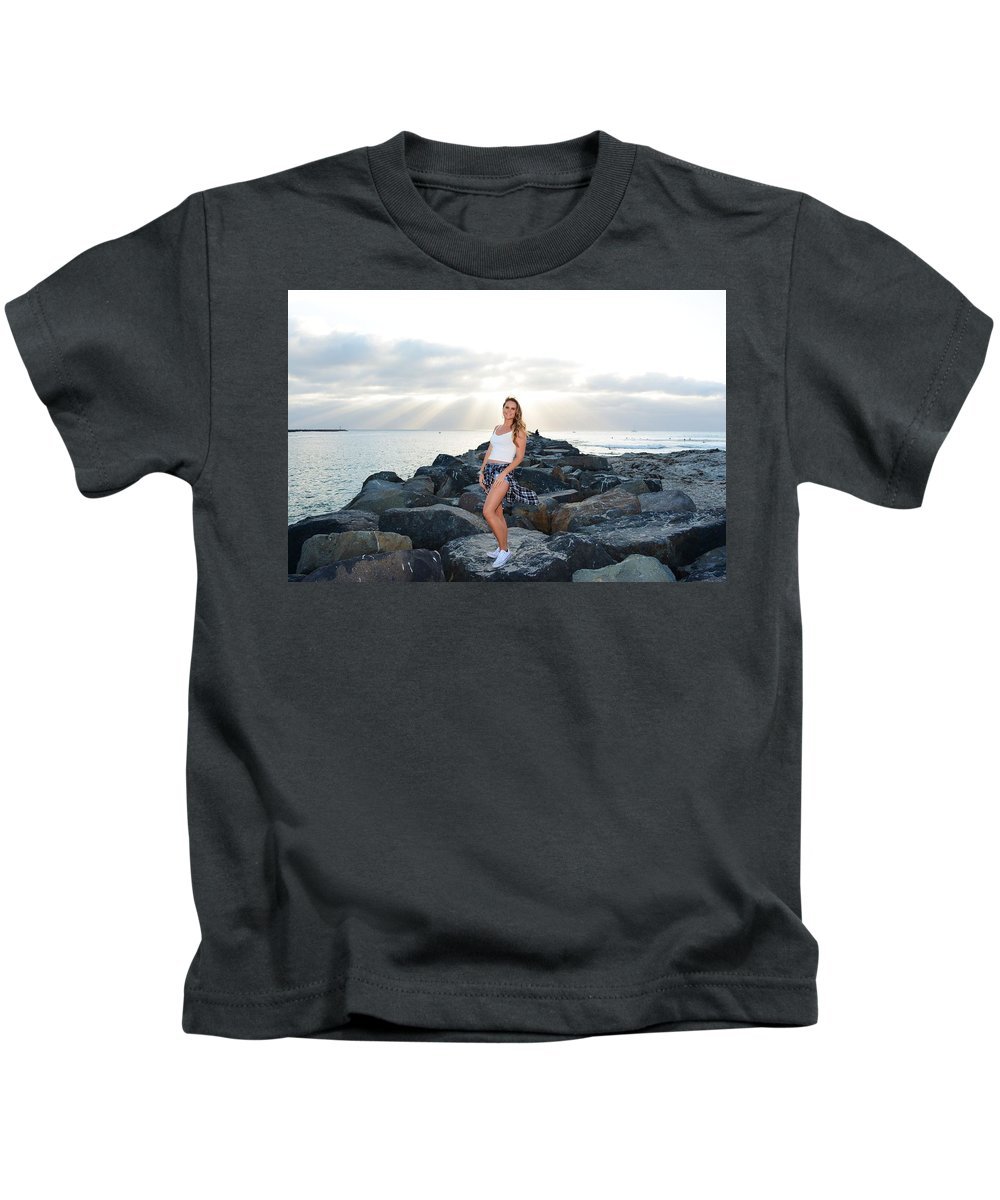 Fashion Kids T-Shirt featuring the photograph Taylor 020 by Remegio Dalisay