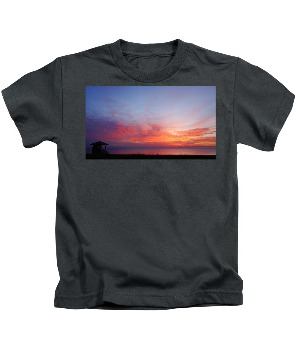 Florida Kids T-Shirt featuring the photograph Technicolor Sunrise 2 Delray Beach by Lawrence S Richardson Jr