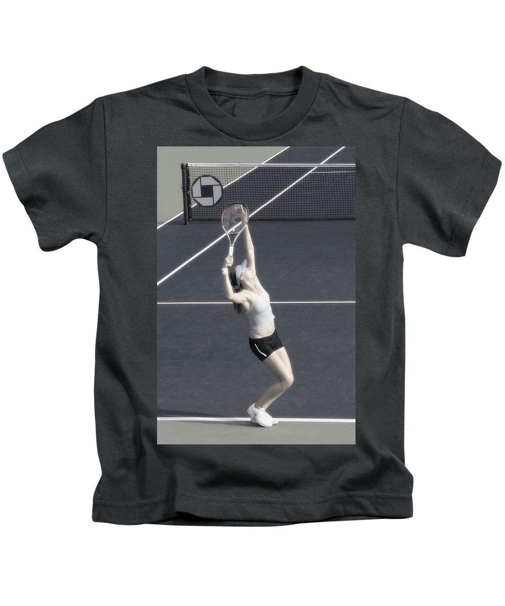 Tennis Kids T-Shirt featuring the photograph Tennis Art- Daniela Hantuchova by Steven Sparks
