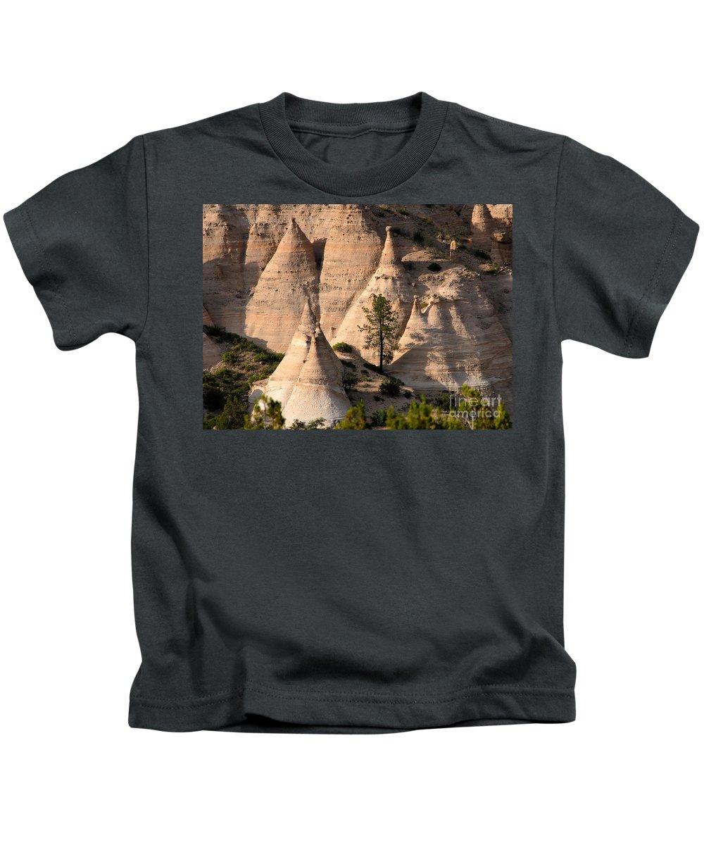 Tent Rocks Wilderness Kids T-Shirt featuring the photograph Tent Rocks Wilderness by David Lee Thompson