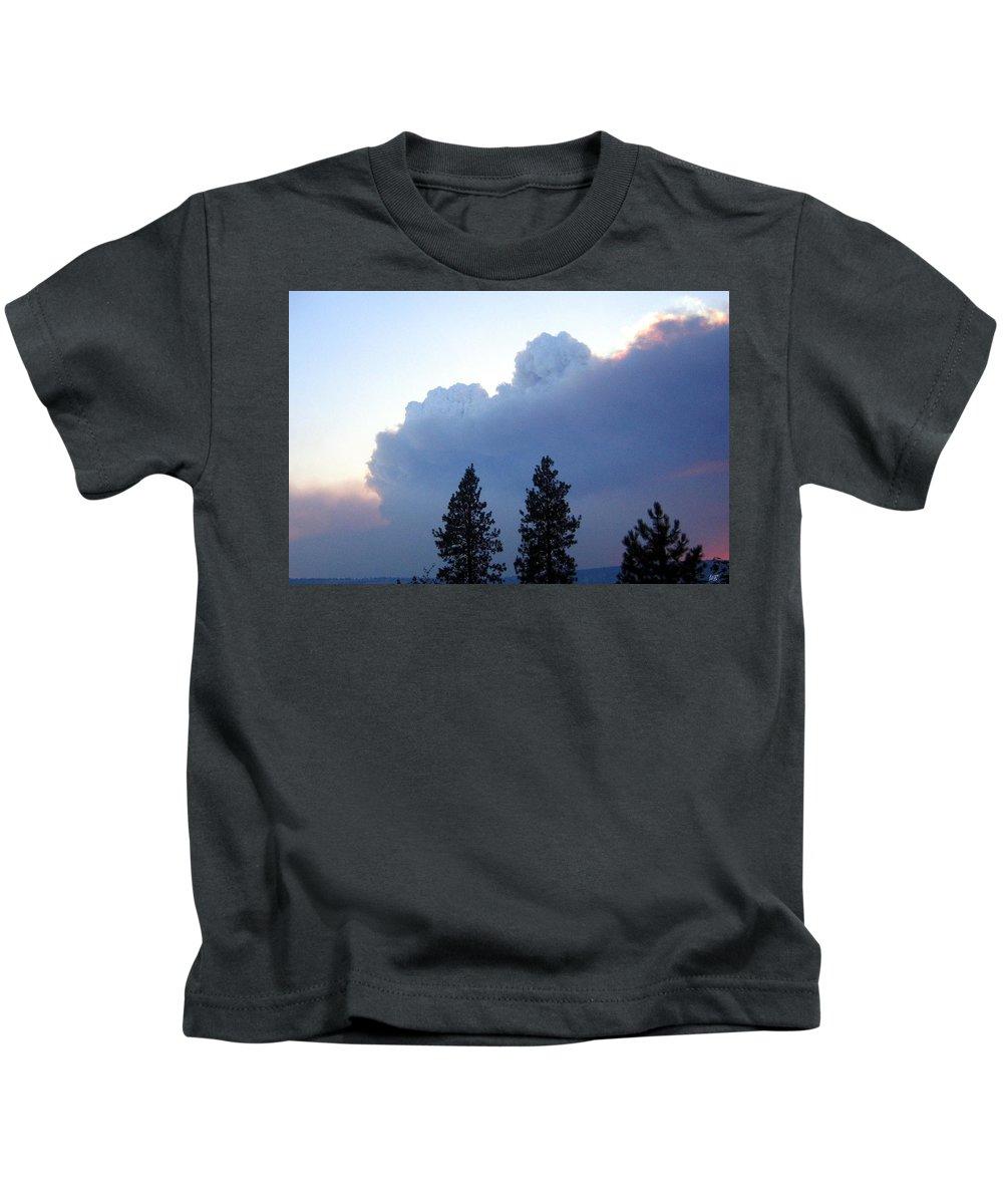 Terrace Mountain Smoke Kids T-Shirt featuring the photograph Terrace Mountain Smoke by Will Borden